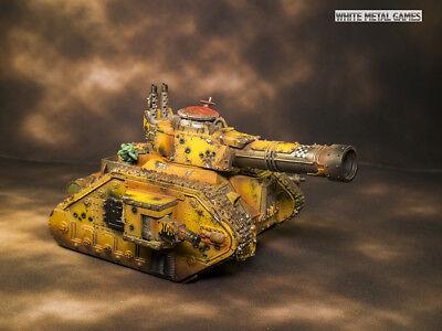 WARHAMMER 40K  Ork Orks Looted Battle Wagon Leman Russ Tank PAINTED PAP