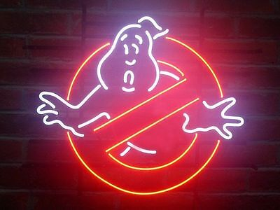 """New Ghostbusters Ghost Game Room Neon Sign 17""""X14"""" GA15S ship from USA"""