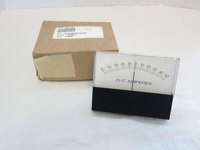New Hoyt 3145-ul 50-0-50 Range Adc Dc Panel Amp Meter