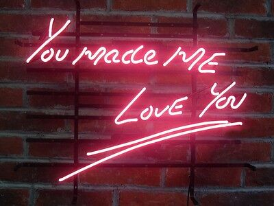 """New You Made Me Love You Wall Home Handcrafted Neon Light Sign 20""""x16"""" LT20M"""
