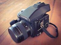 Contax 645 + 80mm Planar Lens