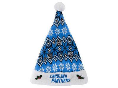 Carolina Panthers Knit Santa Hat