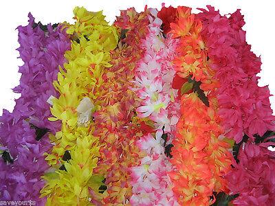 Hawaiian Polynesian Hawaii Hibiscus Lei Flower Luau Assorted Colors - Leis Flowers