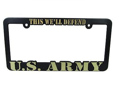 Us Army This Well Defend Black Auto License Plate Frame  New