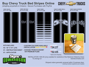 For Sale - Dodge and Chevy Bed Stripe Kits - from just $34.27 Kawartha Lakes Peterborough Area image 3