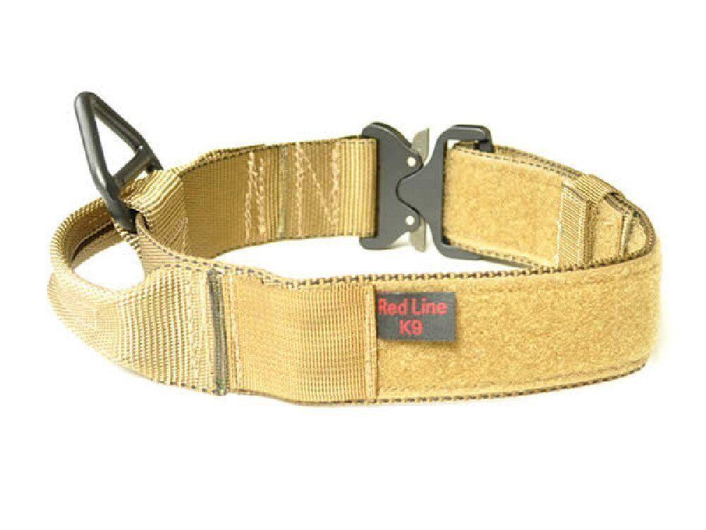 "Redline K9 Maxtac 1.75"" Coyote Brown Service Dog Collar w/Ha"