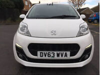 Peugeot 107 Allure 1.0 12v 63 plate 2013 in stunning white ** ZERO Road Tax**