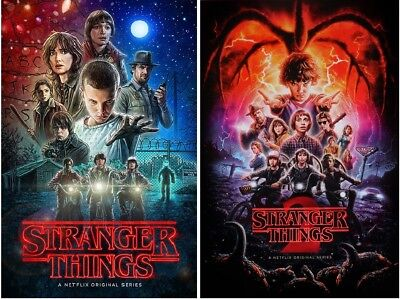 STRANGER THINGS POSTERS - TWO POSTERS SET (2 Posters), Each poster size 24x36