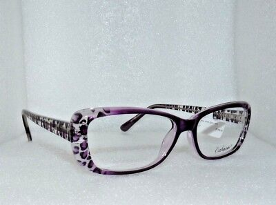 NEW YORK EYE ENHANCE EN4001 PURPLE LEOPARD EYEGLASSES GLASSES FRAMES 55-16-145
