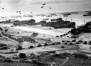 WWII Photo D-Day Invasion Omaha Beach April 1944  WW2