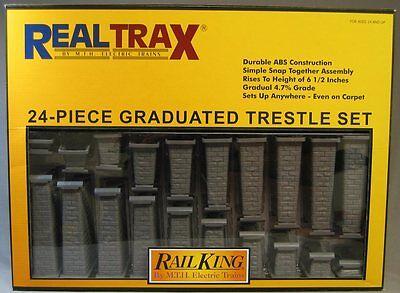 Mth Real Trax Graduated Trestle Set Train Track Elevated Bridge Piers 40-1033