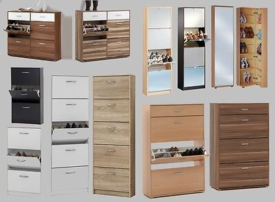Shoe Storage Cabinet/Cupboard Range. Shoe Rack Furniture Solution.