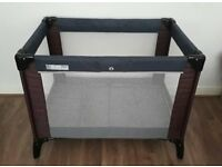 Mamas and Papas Classic Travel Cot in Grey and Plum