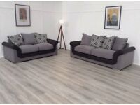 New Hepburn black and gre 3+2 seater sofas FREE DELIVERY