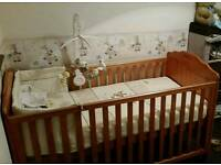 Obaby solid pine cot bed