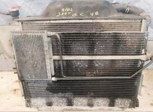 RADIATOR-RADIATORS-COOLER-CONDENSER - complete - engine radiator, transmission, AC, for 2001 JEEP GRAND CHEROKEE $199