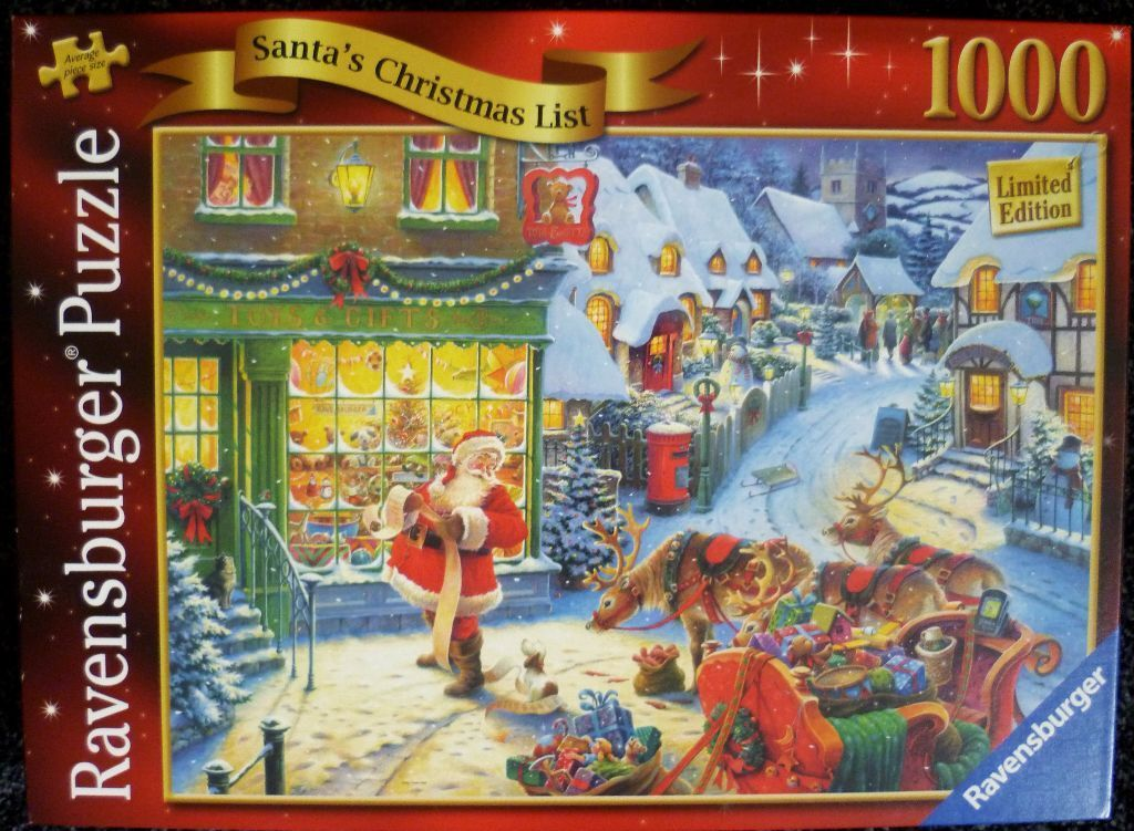 santas christmas list ravensburger 1000 piece christmas jigsaw puzzle - Ravensburger Christmas Puzzles