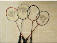 4 used branded Badminton Rackets