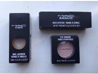 MAC Cosmetic Make Up Bundle - Lipstick, Nail Lacquer & Eyeshadow