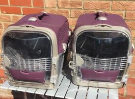 Two cat carriers