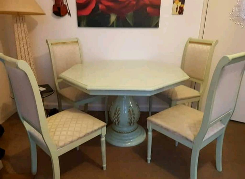 ITALIAN DINING TABLE 4 CHAIRS Rotherham