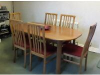 *FURTHER REDUCED* -Dining table 6 chairs