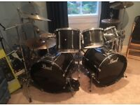 Pearl Export 7 piece kit with 9 cymbals