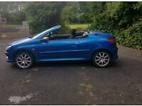 🌞2004 Peugeot 206 convertible🌞12 months mot《 lovely drive cheap to run and insure