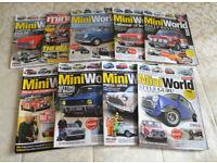 9 x Classic Mini Car Magazines - 8 Mini World Issues + 1 Mini Magazine