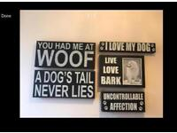 7 piece dog lover wooden wall art
