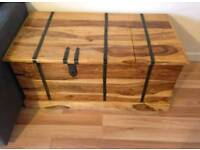 Beautiful solid wood drinks storage chest