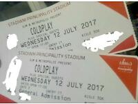 Tickets for Coldplay concert in Cardiff 12 July 2017