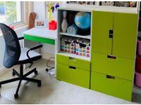IKEA kids bedroom cupboards and desk