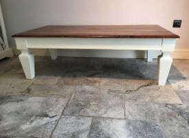 Lovely large heavy painted coffee table