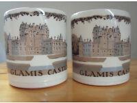 2 Vintage Glamis Castle souvenir ceramic mugs/Boncath Pottery - Dorn Williams. £5 both or £3 each.