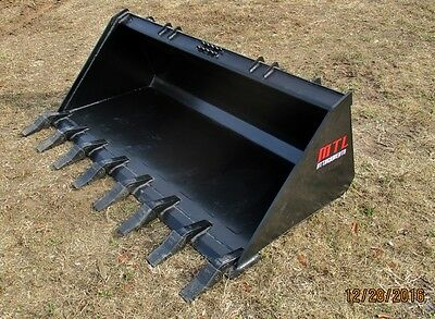 Mtl Attachments Hd 74 Tooth-dirt Bucket Quick Attach Skid Steer Bobcat-ship 149