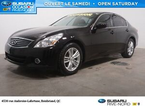 2012 Infiniti G37X Luxury  NOUVEL ARRIVAGE!!