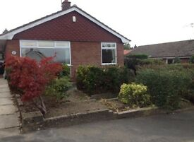3/4 bed bungalow, great links to M65/M6/M61 garage, parking and large garden