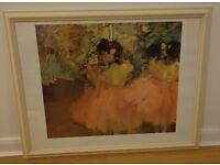 """Framed Print of Edgar Degas """"Ballerina in Rosa""""- ballerina picture"""