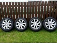 """16"""" VW Golf mk5 wheels & Pirrelli tyres. Excellent condition."""