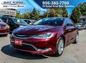 "2015 Chrysler 200 LIMITED, BLUETOOTH, HTD SEATS, 17"" ALUM. WHEEL"