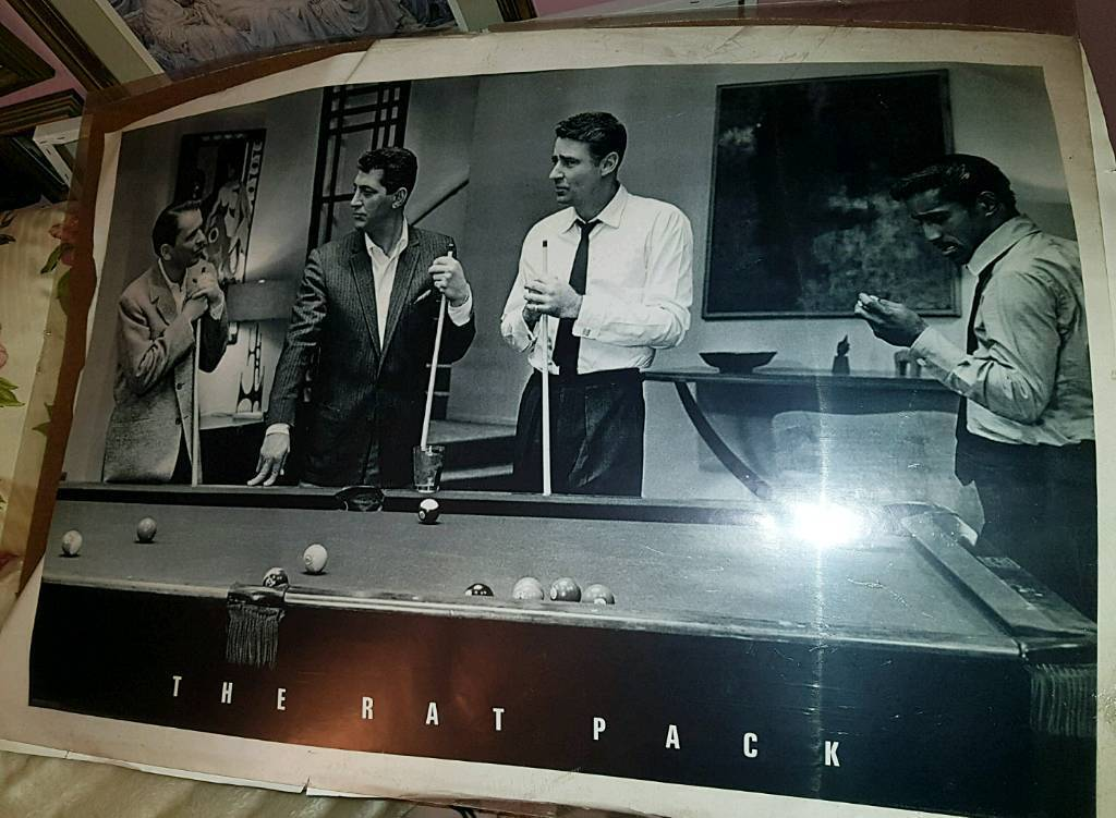 Large Vintage Classic Rat Pack Framed Poster In Shiremoor Tyne