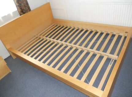 MALM BED FRAME AND KING KOIL MATTRESS (CAN DELIVER)