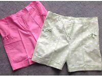 Girls cotton shorts x2 pairs age 11 yrs