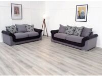 Black and grey hepburn 3+2 seater sofas**Free delivery**