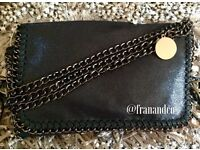 New with tags - black Stella McCartney inspired clutch