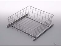 TWO PULL OUT DRAWER BASKETS WHITE METAL **NEW IN ORIGINAL PACKAGING** collect Brackley