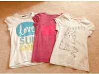 3 X Girls T-Shirts In Good Condition Age 10/11
