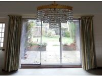 Curtains : Montgomery Pencil Pleat & Lined Lounge Curtains. 1 pair in Very Good Condition.