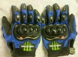 Monster motocross gloves
